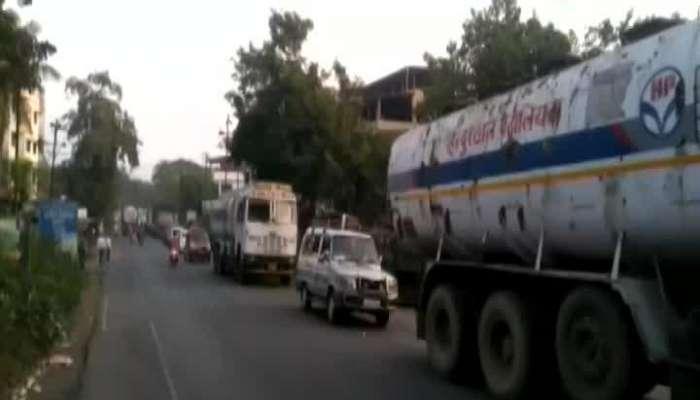Heavy Traffic Jam In Mumbai Goa Highway